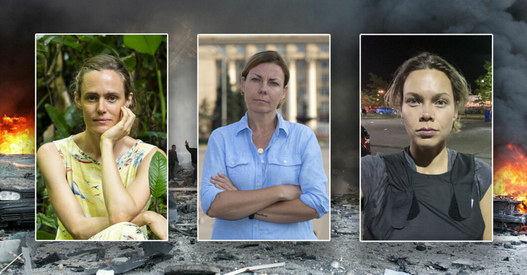 Utrikeskorrespondenterna Lotten Collin, Terese Cristiansson och Nina Svanberg