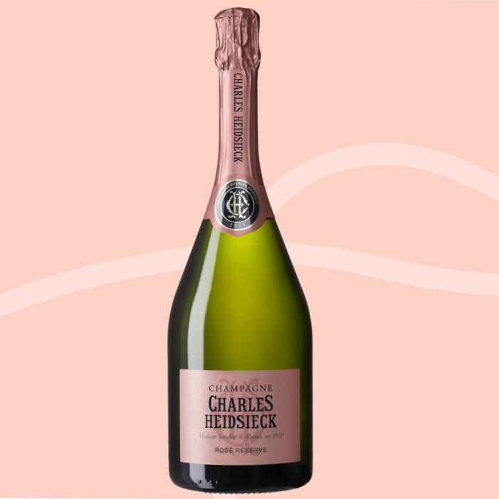 Charles Heidsieck Rosé Reserve Brut, rosa champagne från Frankrike.