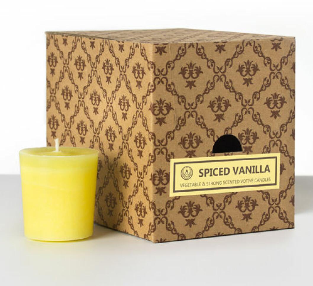 Doftljus med smak av vanilj