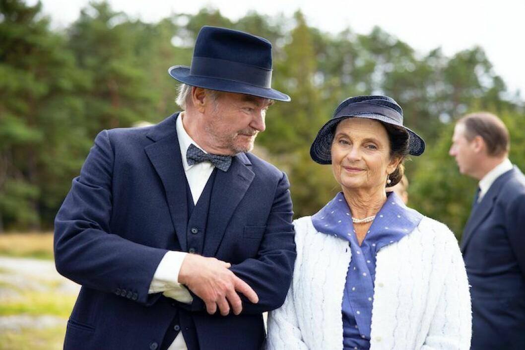 Helga Löwander och Stig Backe