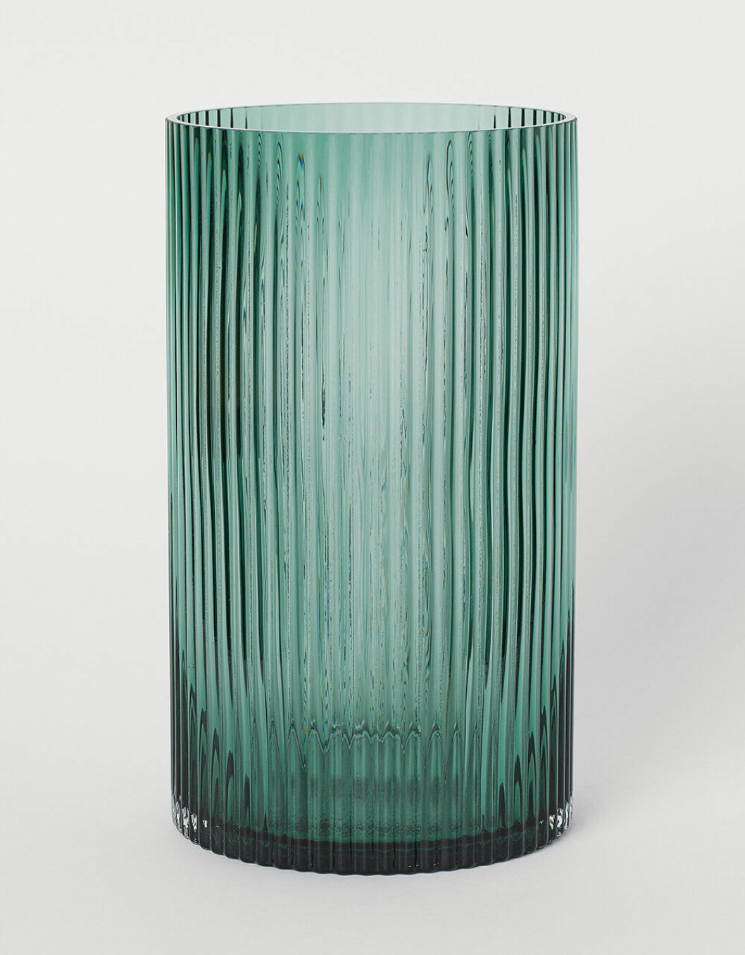 Vas med räfflat grönt glas från H&M Home