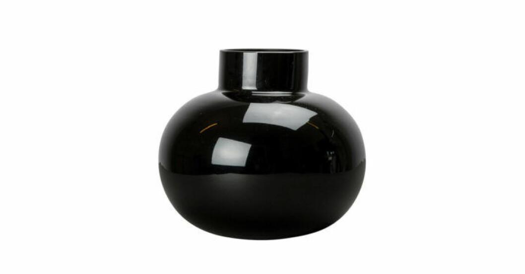 Trendig svart vas i glas