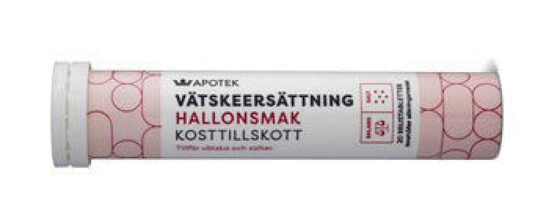 Vätskeersättning från Kronans apotek.