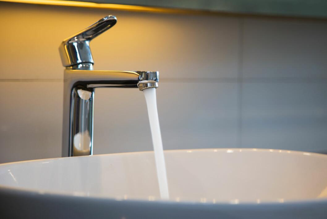 Vattenkran i badrum