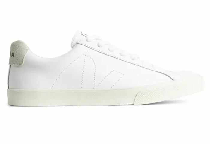 vita sneakers i läder