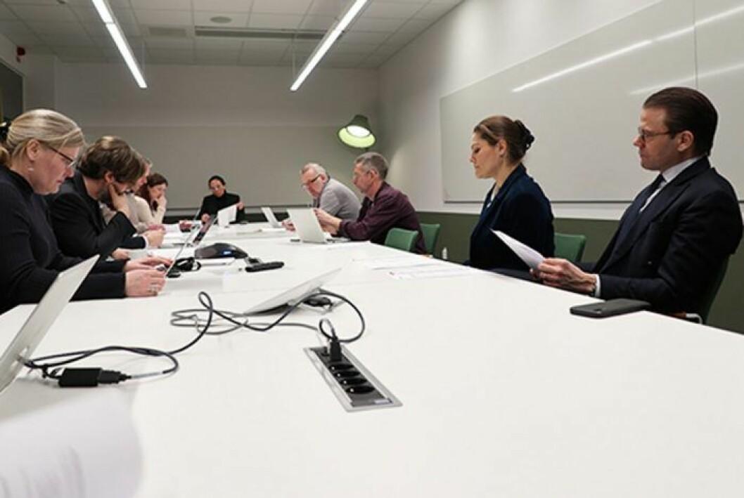 Kronprinsessan Victoria och prins Daniel på besök hos Myndigheten för samhällsskydd och beredskap (MSB).