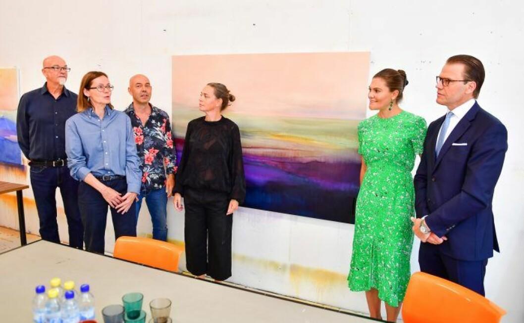 Kronprinsessan Victoria och prins Daniel besöker ateljéföreningen WIP-Sthlm