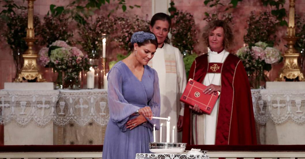 Victoria på sin guddotter Ingrid Alexandras konfirmation