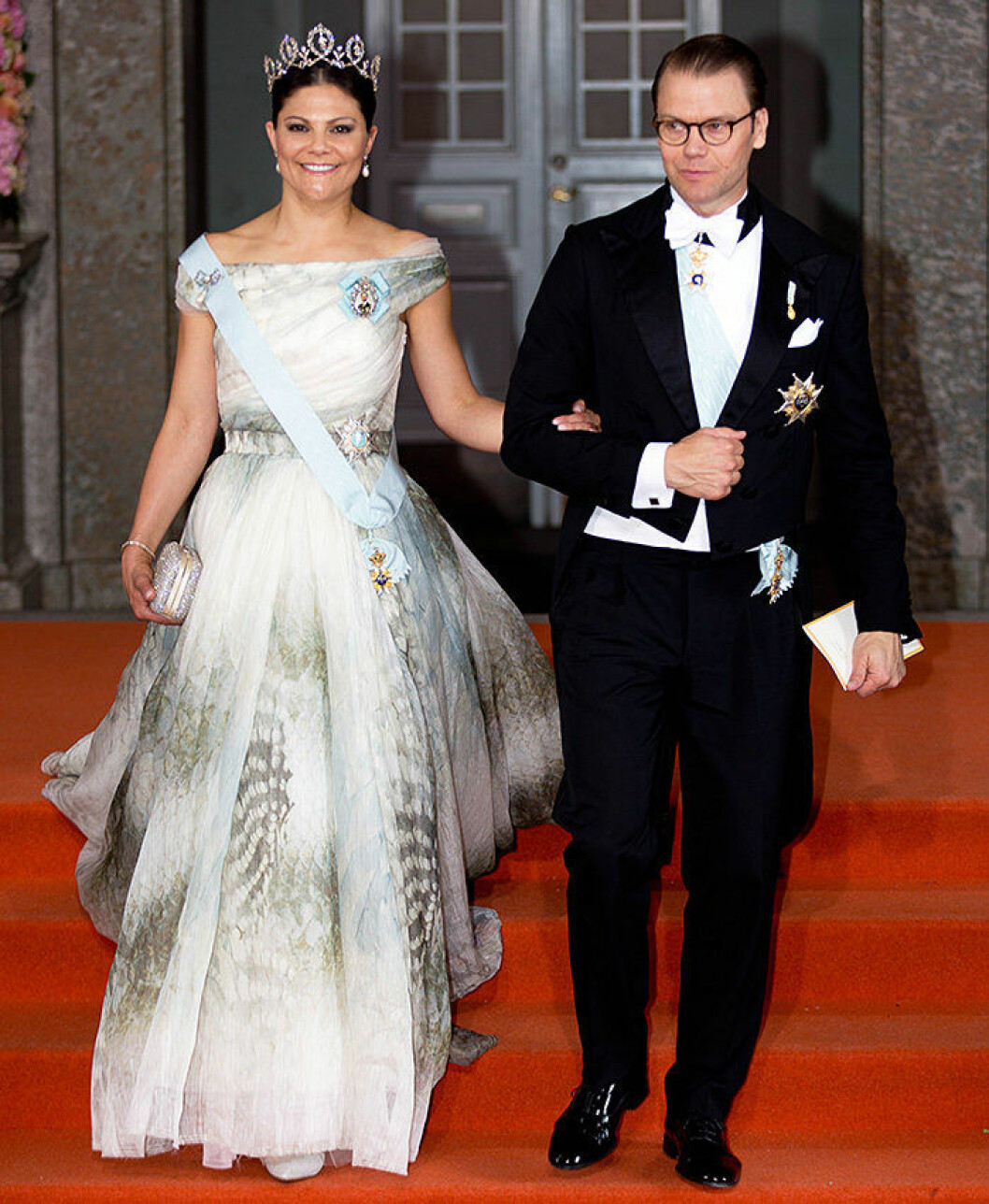 Royal wedding with Prince Carl Philip and Miss Sofia Hellqvist in the Royal Chapel at the Royal Palace in Stockholm. - arrivals; inner courtyard Victoria de Suede;Daniel Westling
