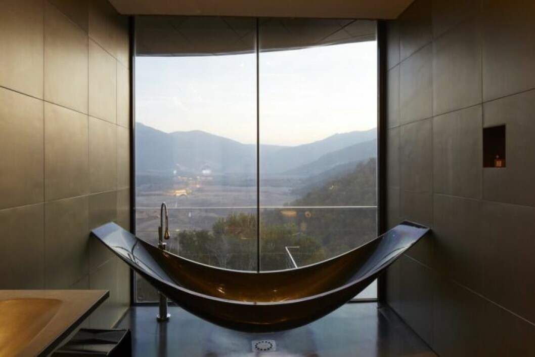 Ett badrum som gjort för en selfie, på Vik i Chile