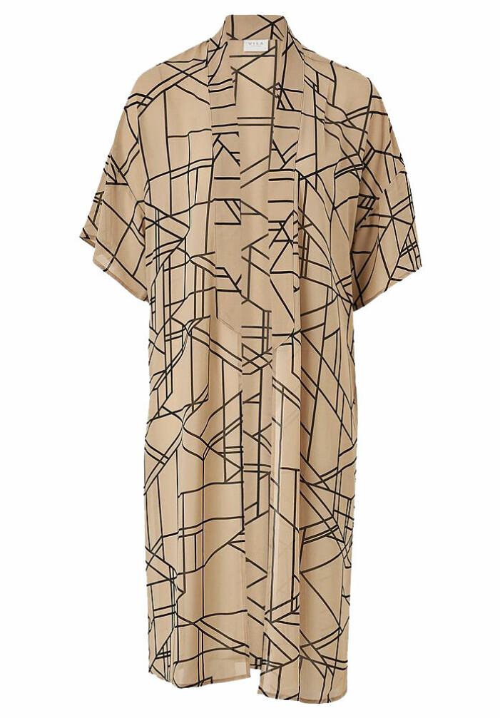 mönstrad lång kimono från vila