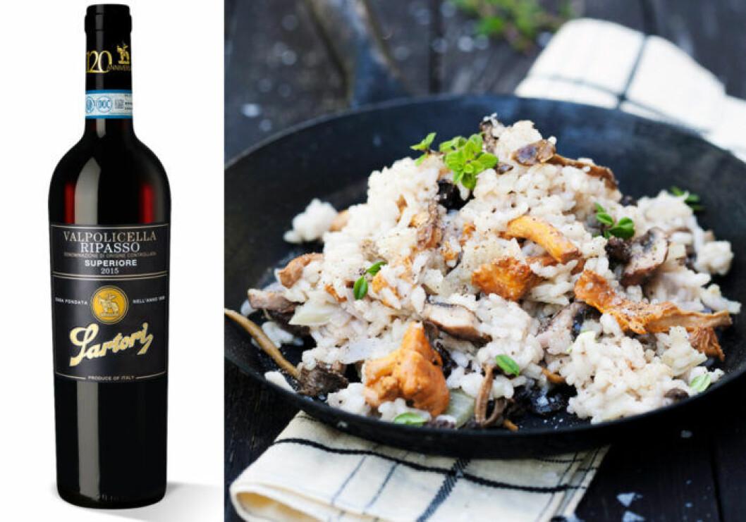 Ripasso passar till risotto med skogssvamp och parmesan.