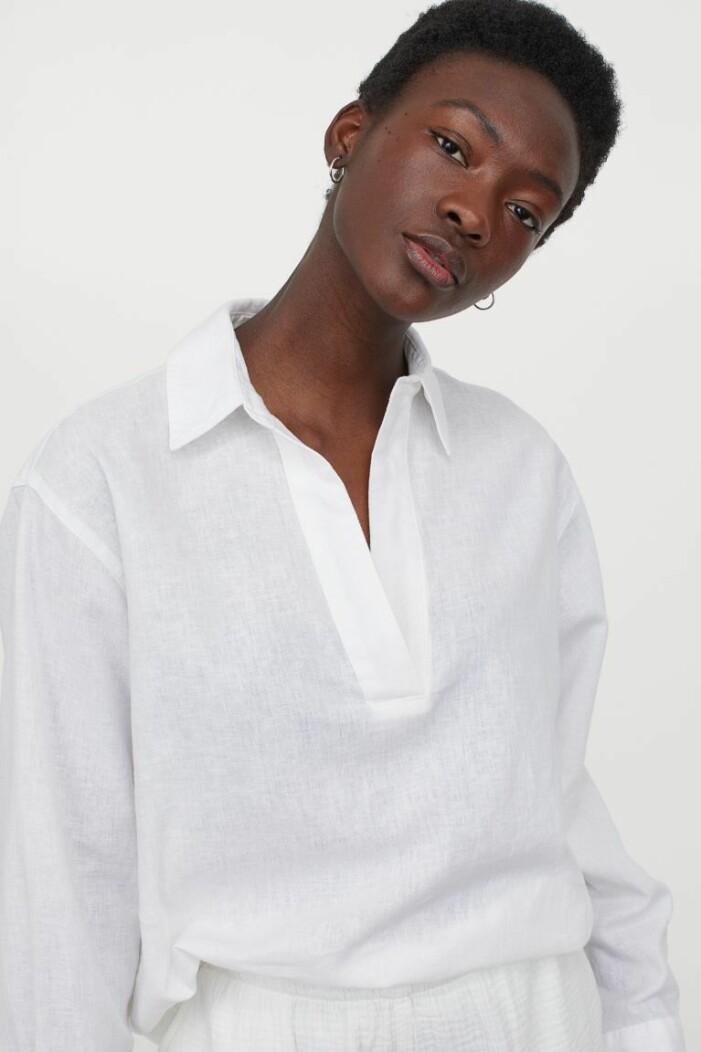 vit skjorta dam