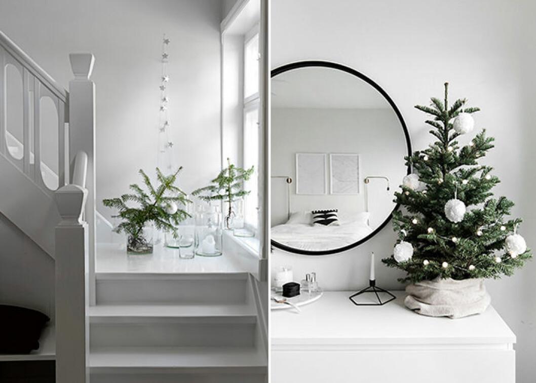 Inspireras av vintern och inred i vitt i jul
