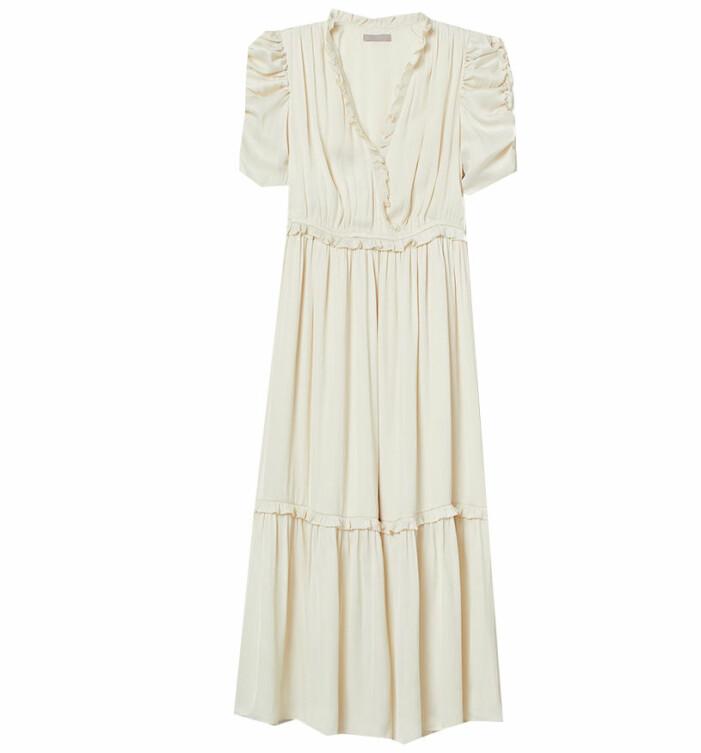 vit klänning hm