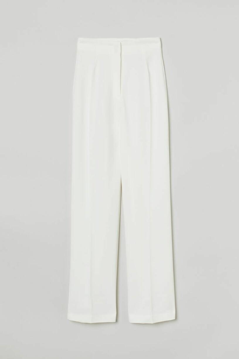vita kostymbyxor H&M
