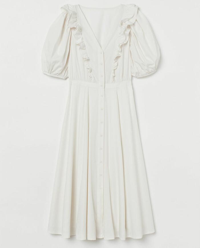 vit långklänning hm
