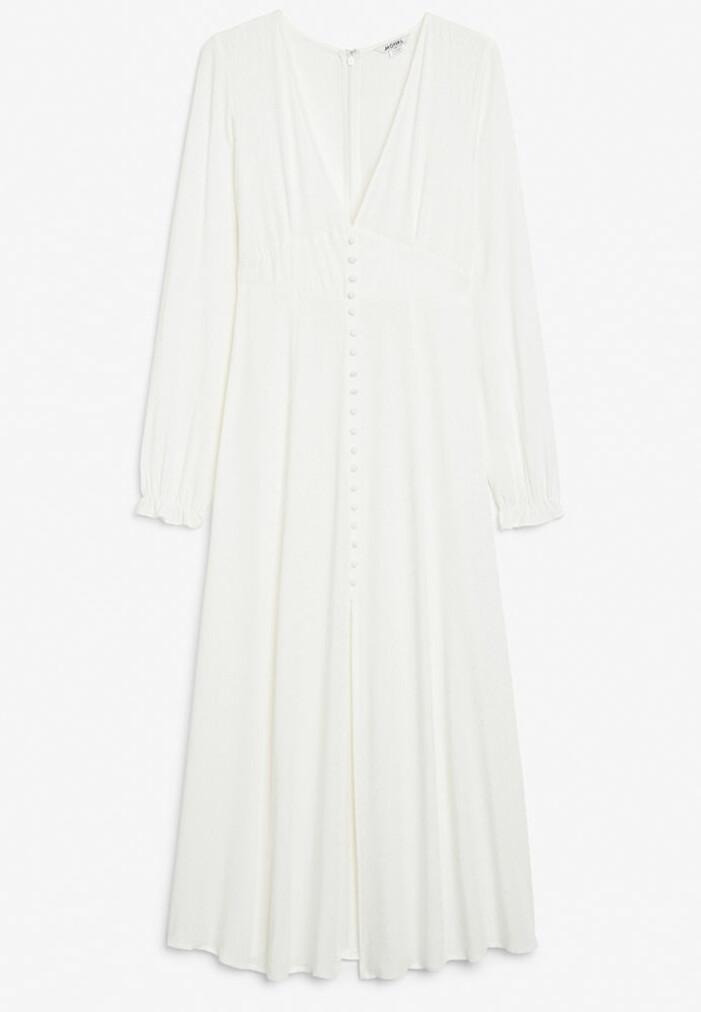 vit långklänning monki