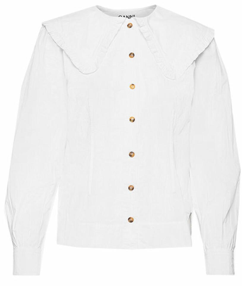 vit skjorta ganni