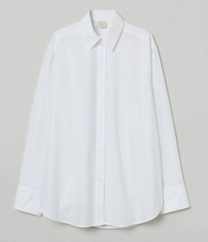 vit skjorta H&M