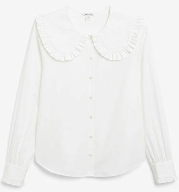 vit skjorta monki