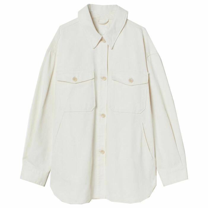 vit skjortjacka