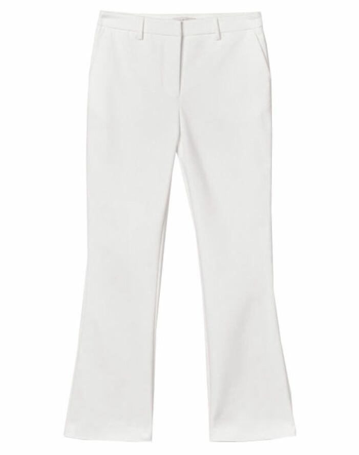 vita ankellånga kostymbyxor med hög midja