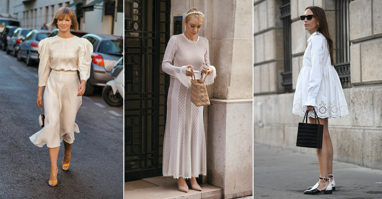 Vita klänningar sommaren 2021