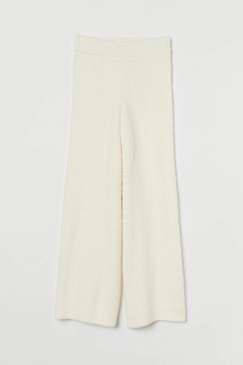 Vita stickade byxor, H&M