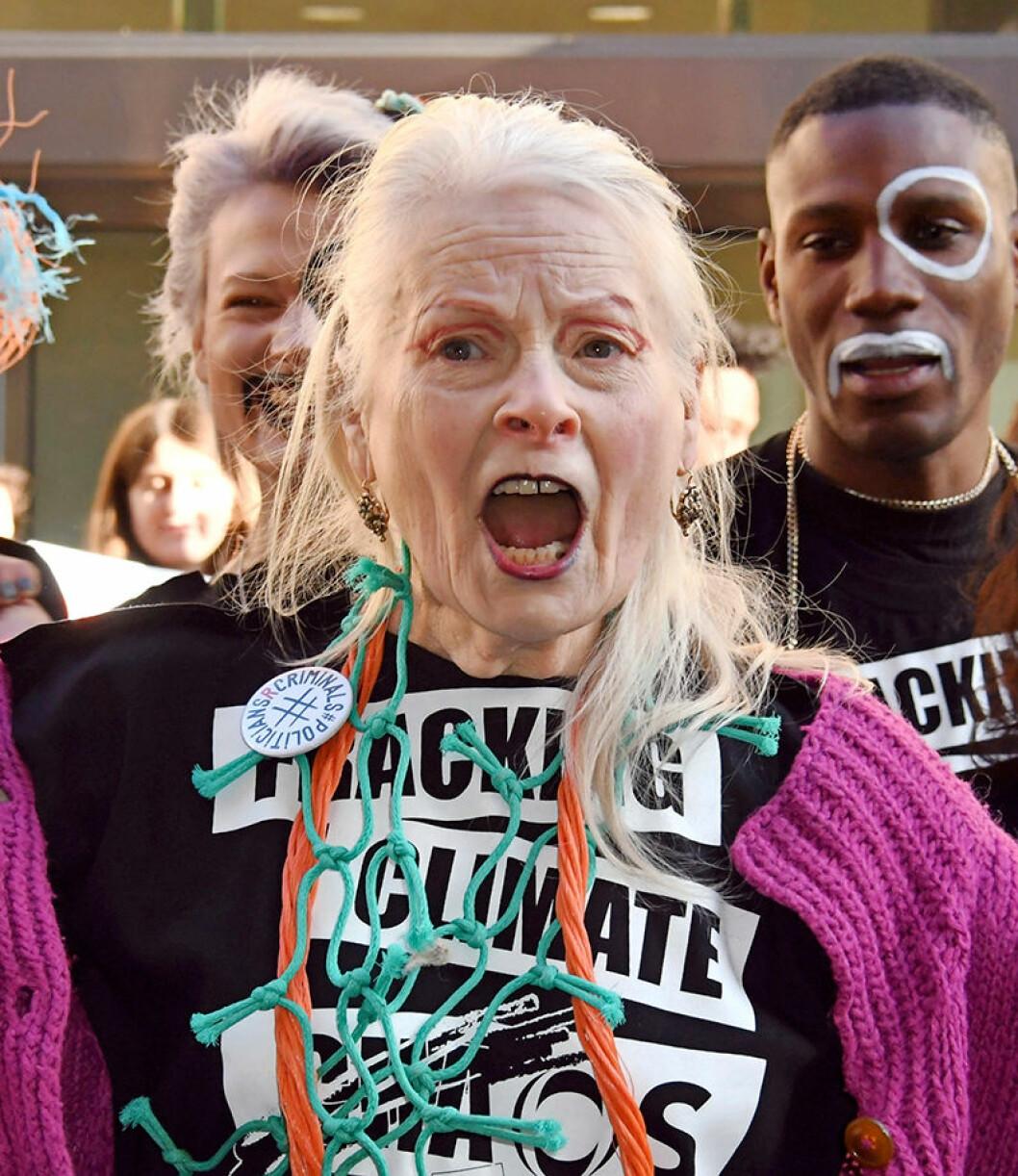 vivienne westwood protesterar mot fracking