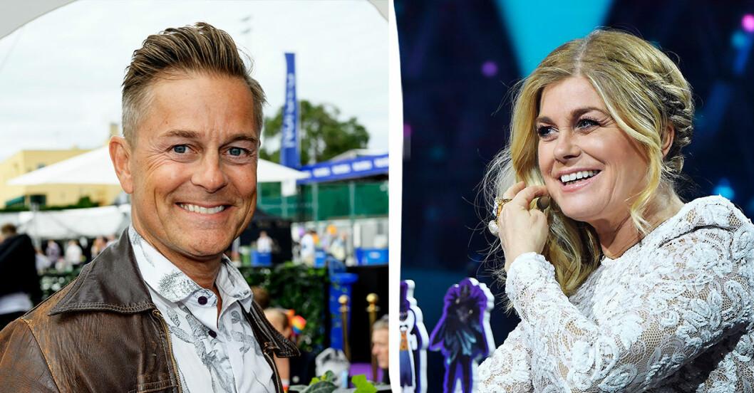 Niclas och Pernilla Wahlgren.