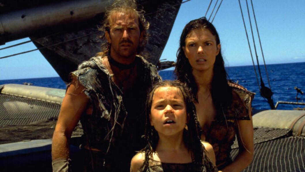 Kevin Costner spelar en blöt roll I Waterworld.