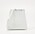 Vit miniväska i crockomönster. Formen är som en avkapad trekant och väskan är rak upptill. Väska från Who ehat wear/Zalando.se