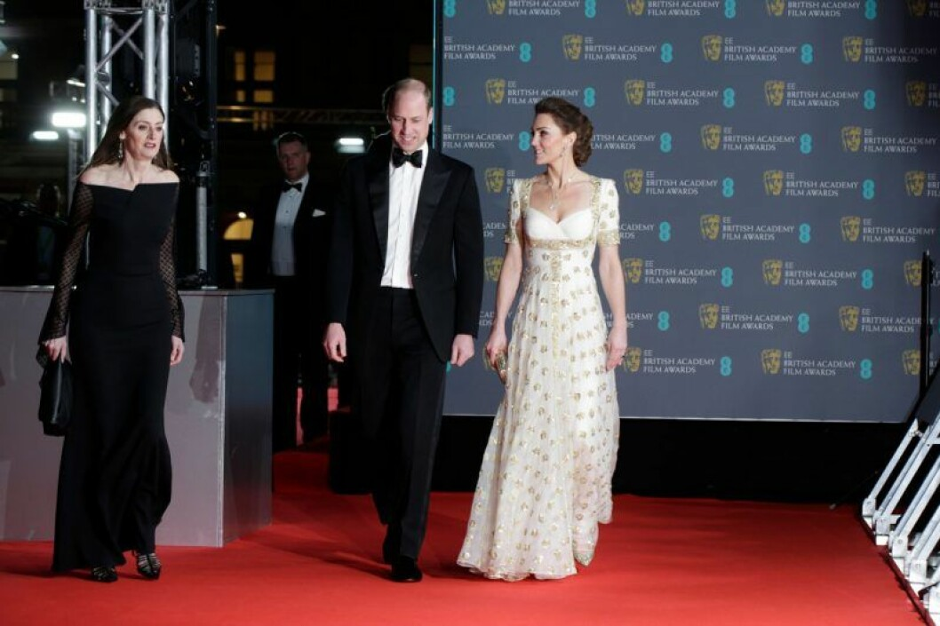 Prins William och Catherine, hertiginna av Cambridge på Bafta-galan 2020.