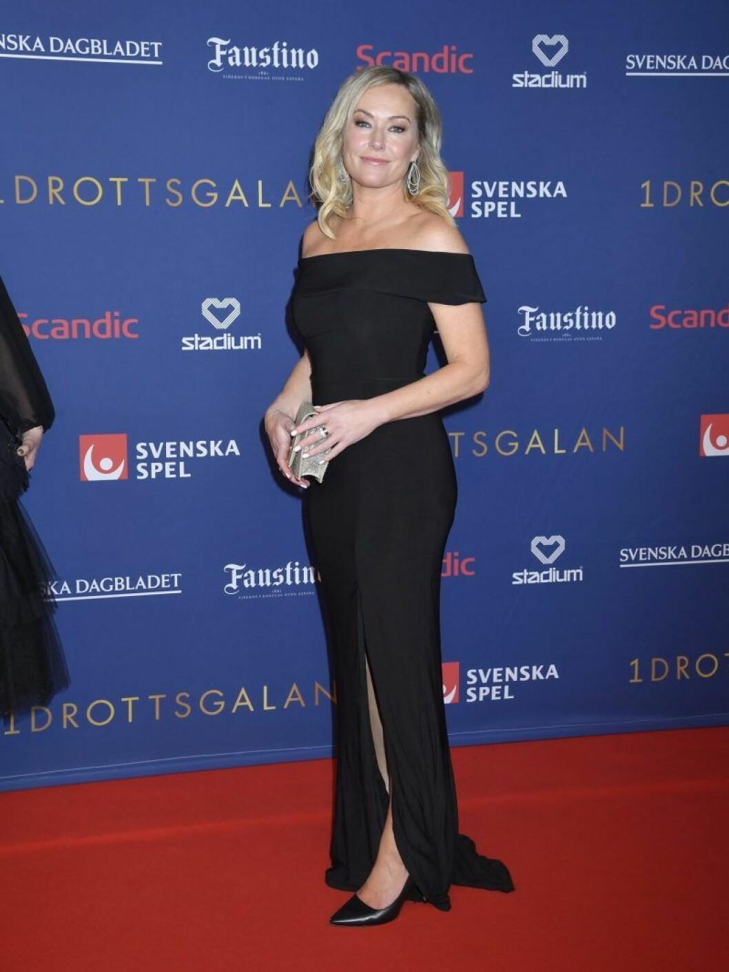Yvette Hermundstad på röda mattan på Idrottsgalan 2020