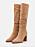 Bruna mockaboots, knähöga med spetsig tå och klack. Boots från Anna Field/Zalando.se