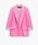 Rosa blazer i rak, oversizad modell med uppvikta ärmar. Blazer från Zara.