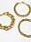 Tre armband i form av guldfärgade kedjor i olika storlekar. Armband i 3-pack från Zara.