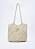 Vävd väska i off-white. Lång axelrem. Väska från Zara.