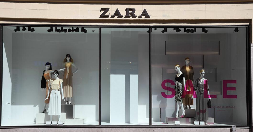 Zara-butiksfonster