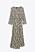Leopardmönstrad maxiklänning med rundad hals, långa ärmar och knytdetalj i midjan. Klänning från Zara.