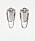 Silverfärgade örhängen med kedjor och strass. Oversizade örhängen från Zara.
