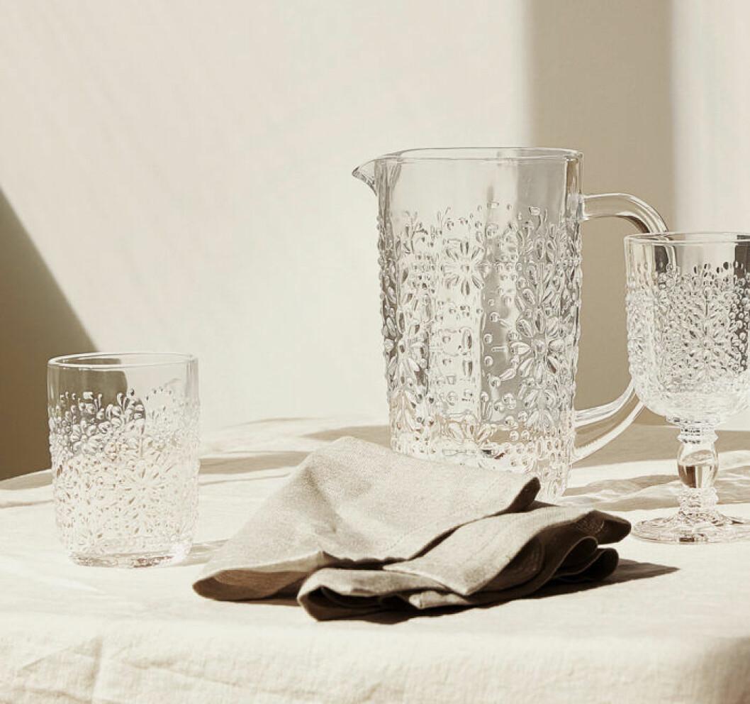 Zara home hakar på trenden med struktur i glaset