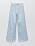 Ljusblå jeans med blå blommor på. Raka jeans med vida ben från Zara.