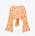 Rosa croppad tröja med långa ärmar och bar rygg med knytdetalj i bak. Mönster i gult, rött och orange. Topp från Zara.