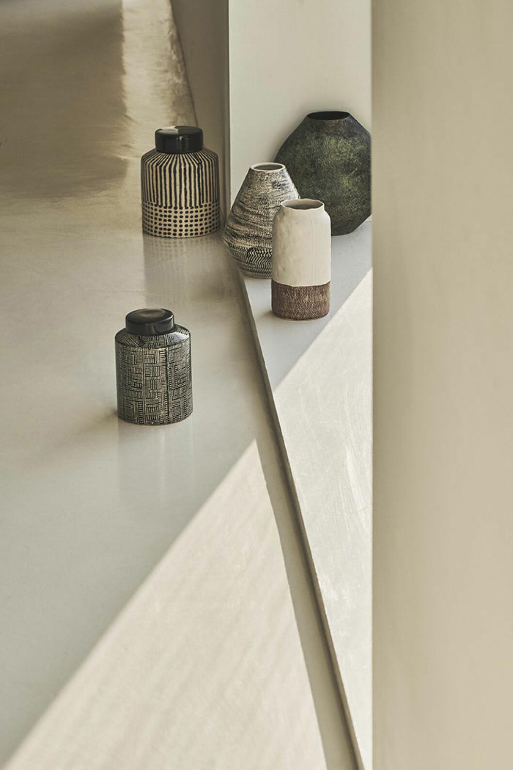 Mönstrade vaser och krukor från Zara Home