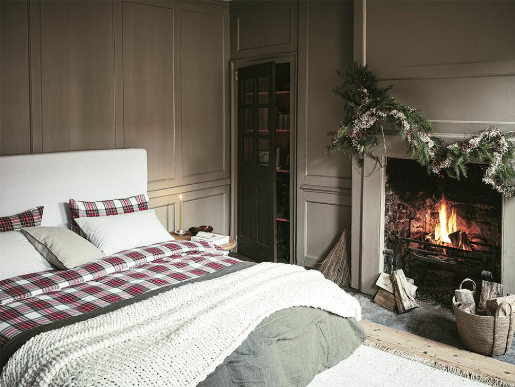Flanellrutiga lakan till jul hos Zara Home