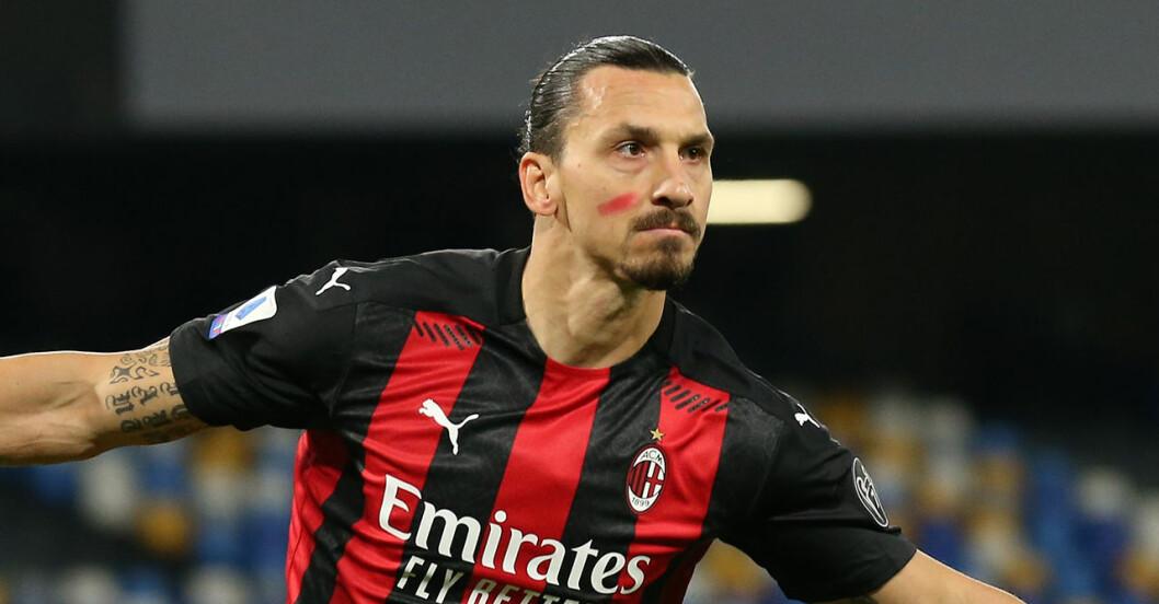 Därför spelade Zlatan Ibrahimovic med ett rött streck på kinden